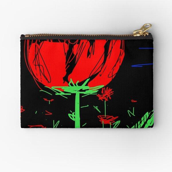 Red flower Zipper Pouch