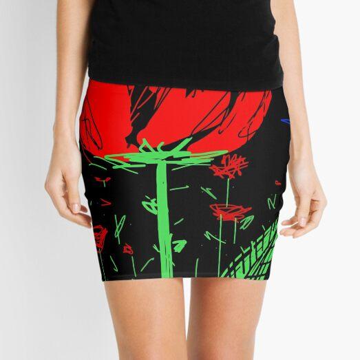 Red flower Mini Skirt
