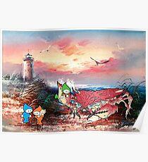 Seaside Sunset Poster