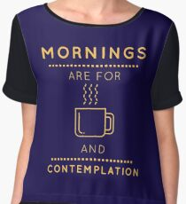 "Stranger Things: ""Coffee & Contemplation"" Women's Chiffon Top"