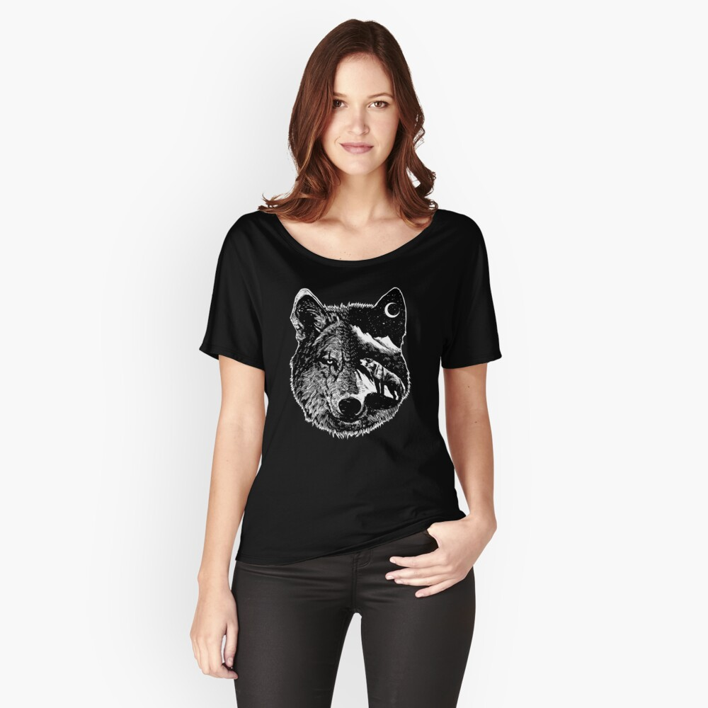 Night wolf Relaxed Fit T-Shirt
