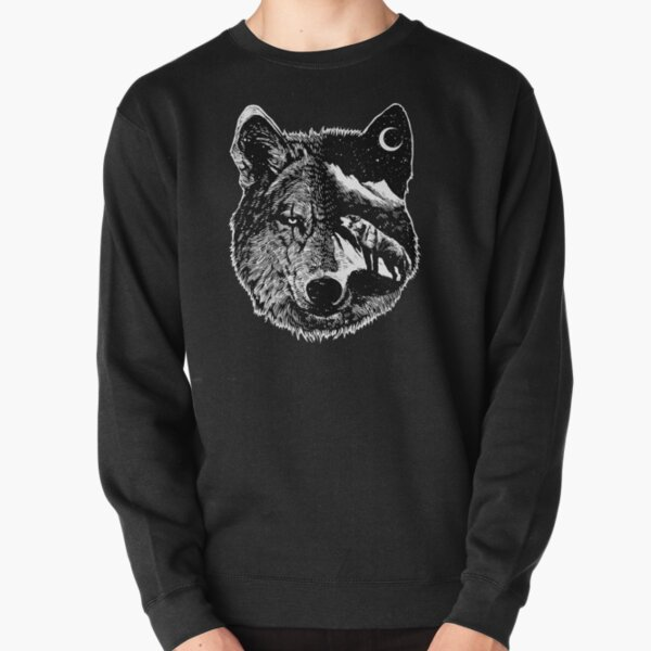 Night wolf - Animal Theme Design Suitable for Men and Women Pullover Sweatshirt