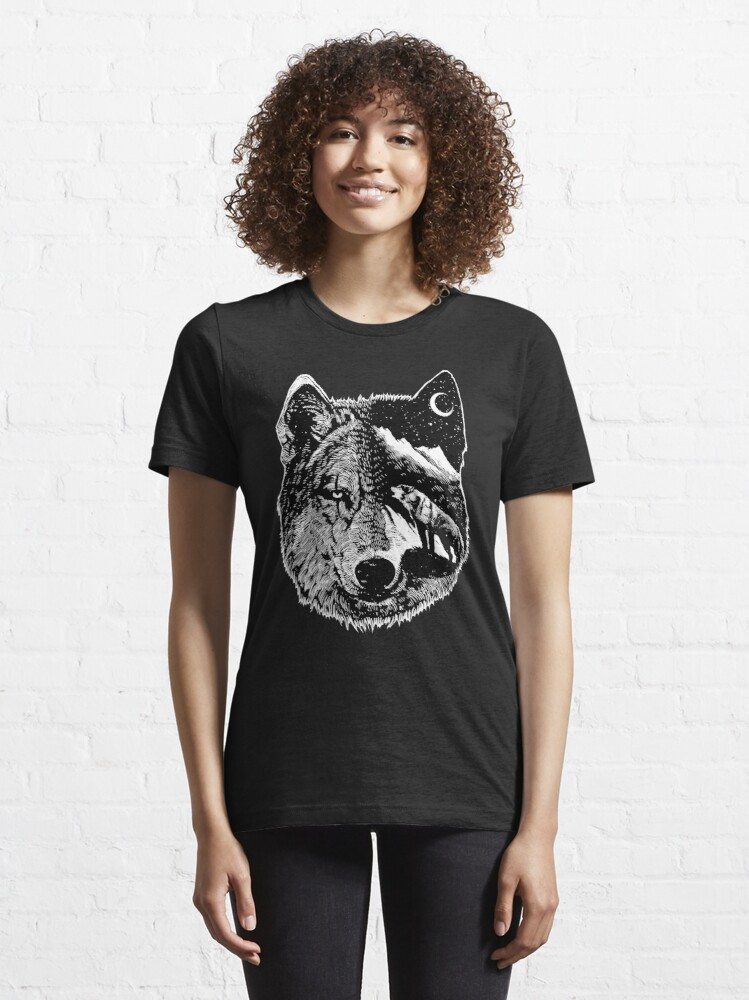 Alternate view of Night wolf Essential T-Shirt