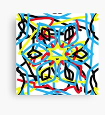 colorful kaleidoscope mandala Canvas Print