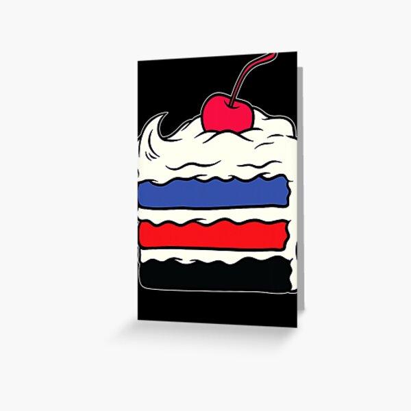 Polyamory Layered Cake Gay Rights Pride Week Greeting Card