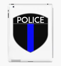 POLICE COPS THIN BLUE LINE SUPPORT CREST LAW ENFORCEMENT SHERIFF iPad Case/Skin
