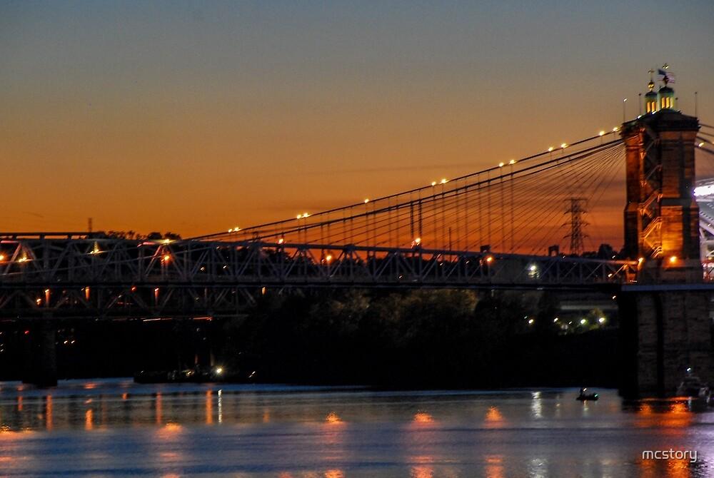 Suspension Bridge by Mary Carol Story