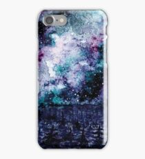 Watercolor Space And Forest iPhone Case/Skin