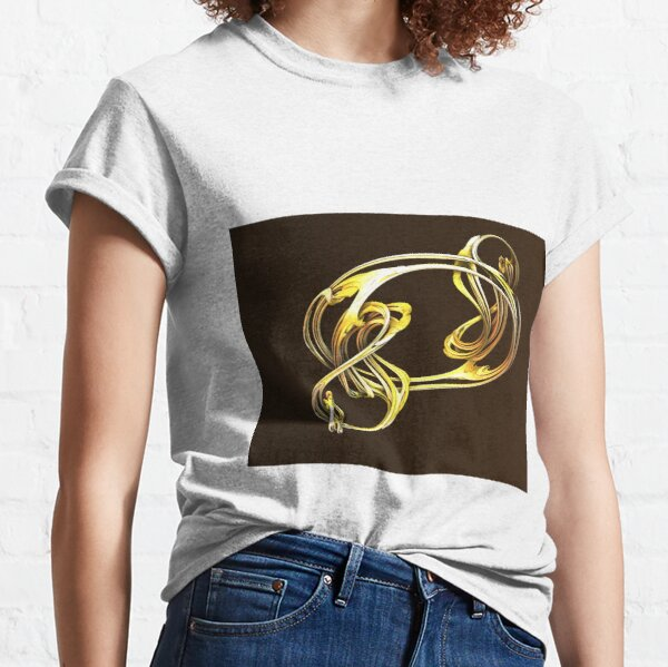 Gold and brown twist dragon Classic T-Shirt