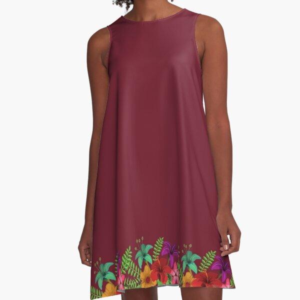 TW2US Summer Floral A-Line Dress