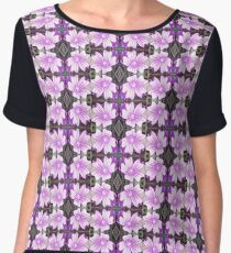 Mauve Ground Flower Fractal 706a Women's Chiffon Top