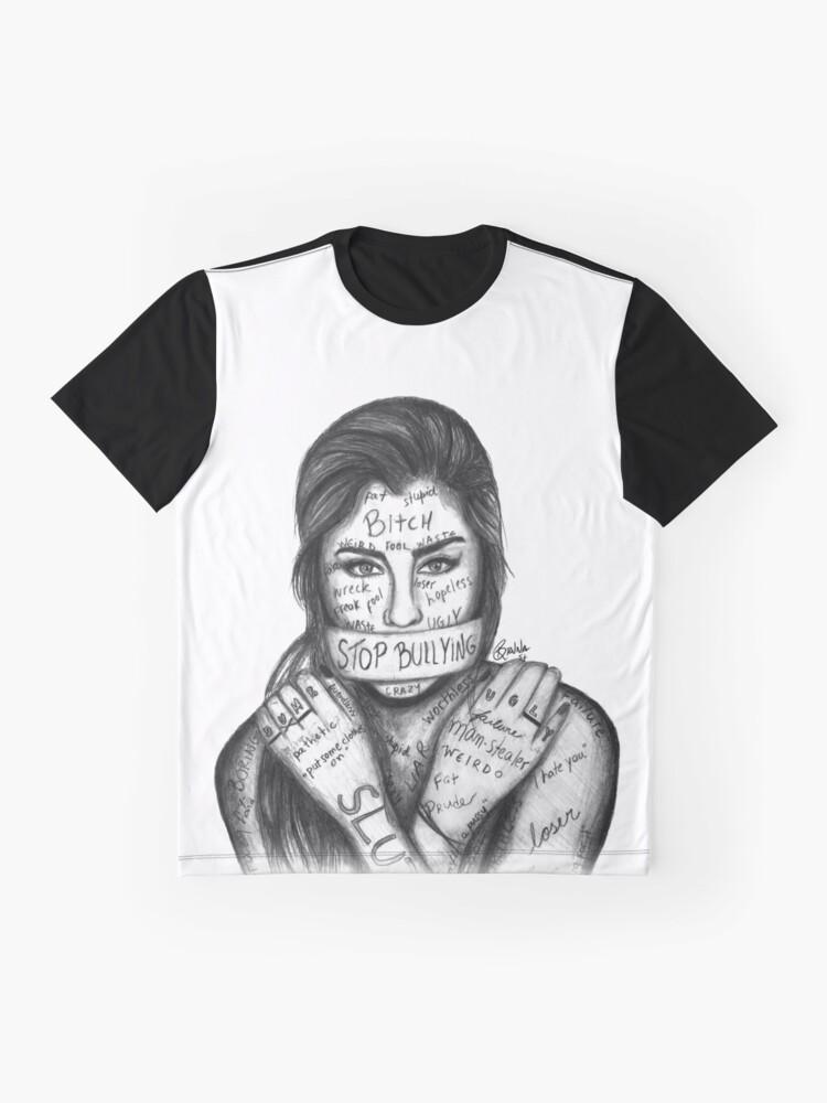 Vista alternativa de Camiseta gráfica Lauren Jauregui - Detener la intimidación