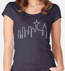 Seattle Skyline (Frasier) Women's Fitted Scoop T-Shirt