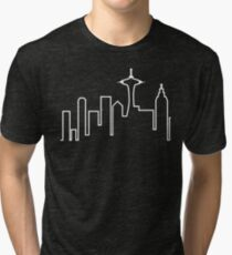 Seattle Skyline (Frasier) Tri-blend T-Shirt