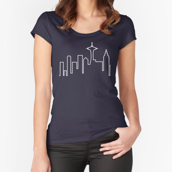Seattle Skyline (Frasier) Fitted Scoop T-Shirt