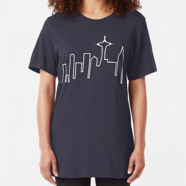 Seattle Skyline (Frasier) Slim Fit T-Shirt