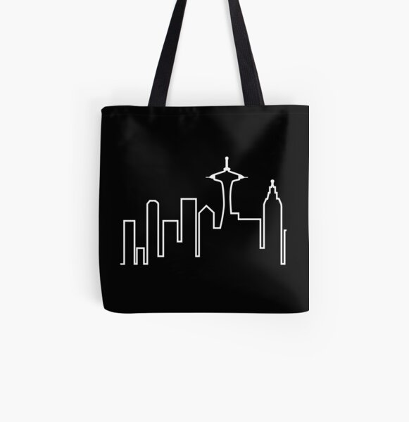 Seattle Skyline (Frasier) All Over Print Tote Bag