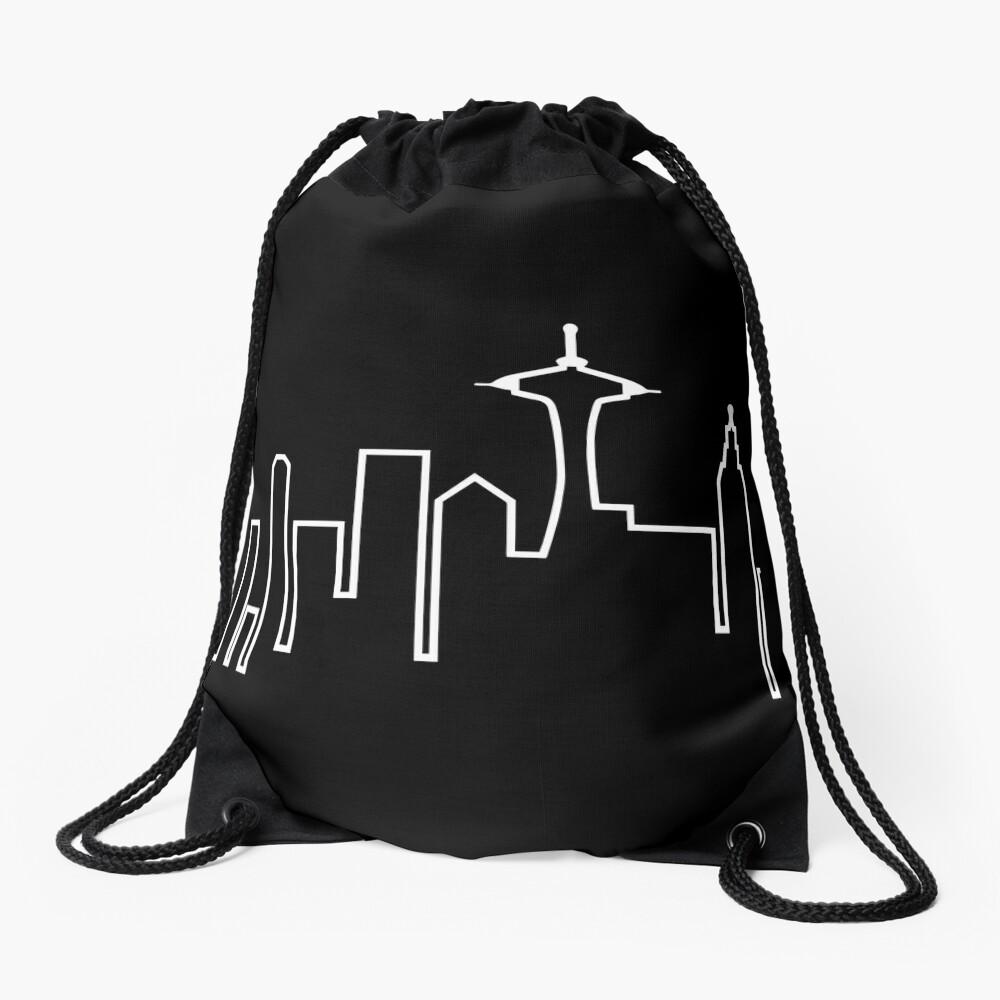 Seattle Skyline (Frasier) Drawstring Bag