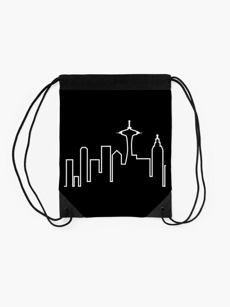 Alternate view of Seattle Skyline (Frasier) Drawstring Bag
