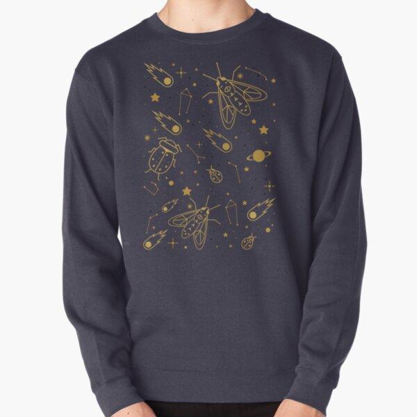 Golden Celestial Bugs  Pullover Sweatshirt