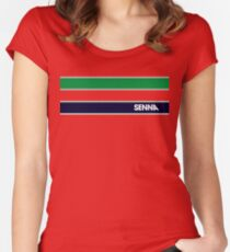 AYRTON SENNA HELMET DESIGN Women's Fitted Scoop T-Shirt