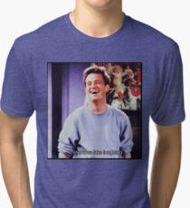 nervous fake laughter Tri-blend T-Shirt