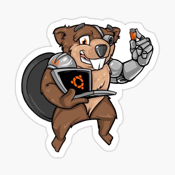 Bionic Beaver Sticker