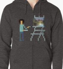 Pixel Ross Zipped Hoodie