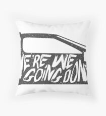 future the back to Throw Pillow