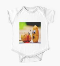 Murdered potato. Death by potato. Fun,funny,digital manipulated photo Kids Clothes