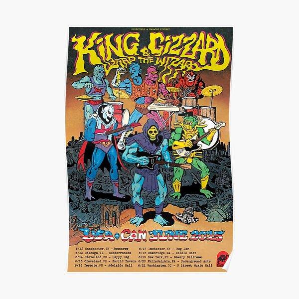 King Gizzard & The Wizard Lizard Tour Poster