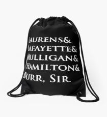Hamilton Names Drawstring Bag