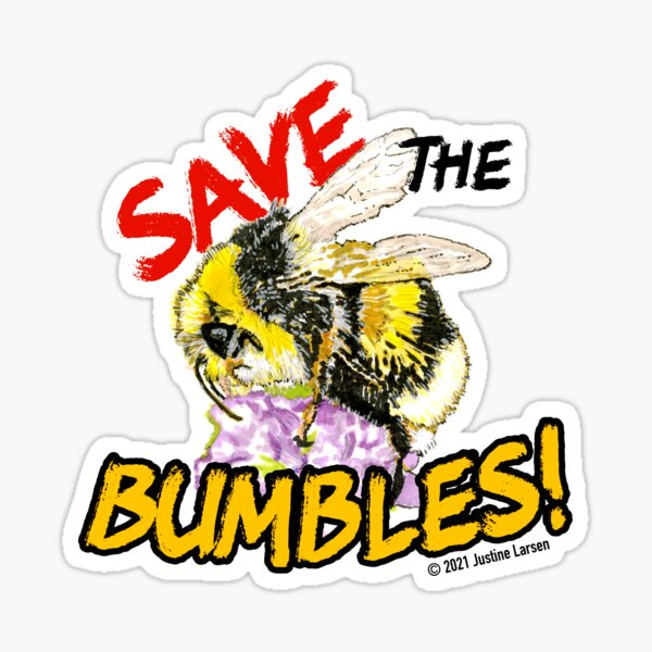 Save the Fuzzy Bumbles Sticker