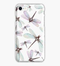 Watercolor Romantic Dragonflies iPhone Case/Skin
