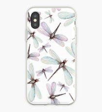 Watercolor Romantic Dragonflies iPhone Case