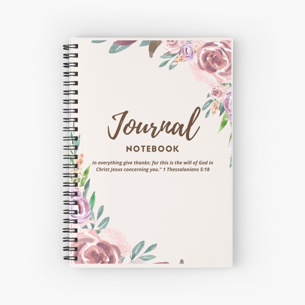 Floral Journal Spiral Notebook