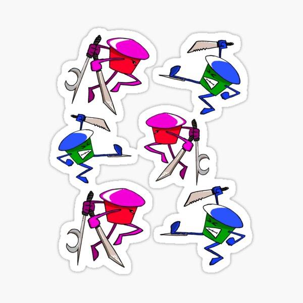 Cupcake Fight (Cutcakes) Sticker