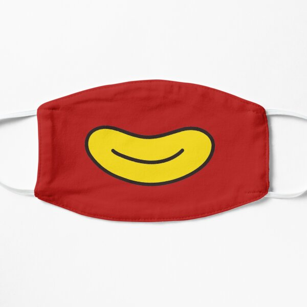 cute mouth, cartoon mouth with teeth Flat Mask