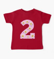 "Kolarkub number ""2"" in pink Kids Clothes"