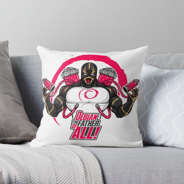 Debian the father of all Throw Pillow