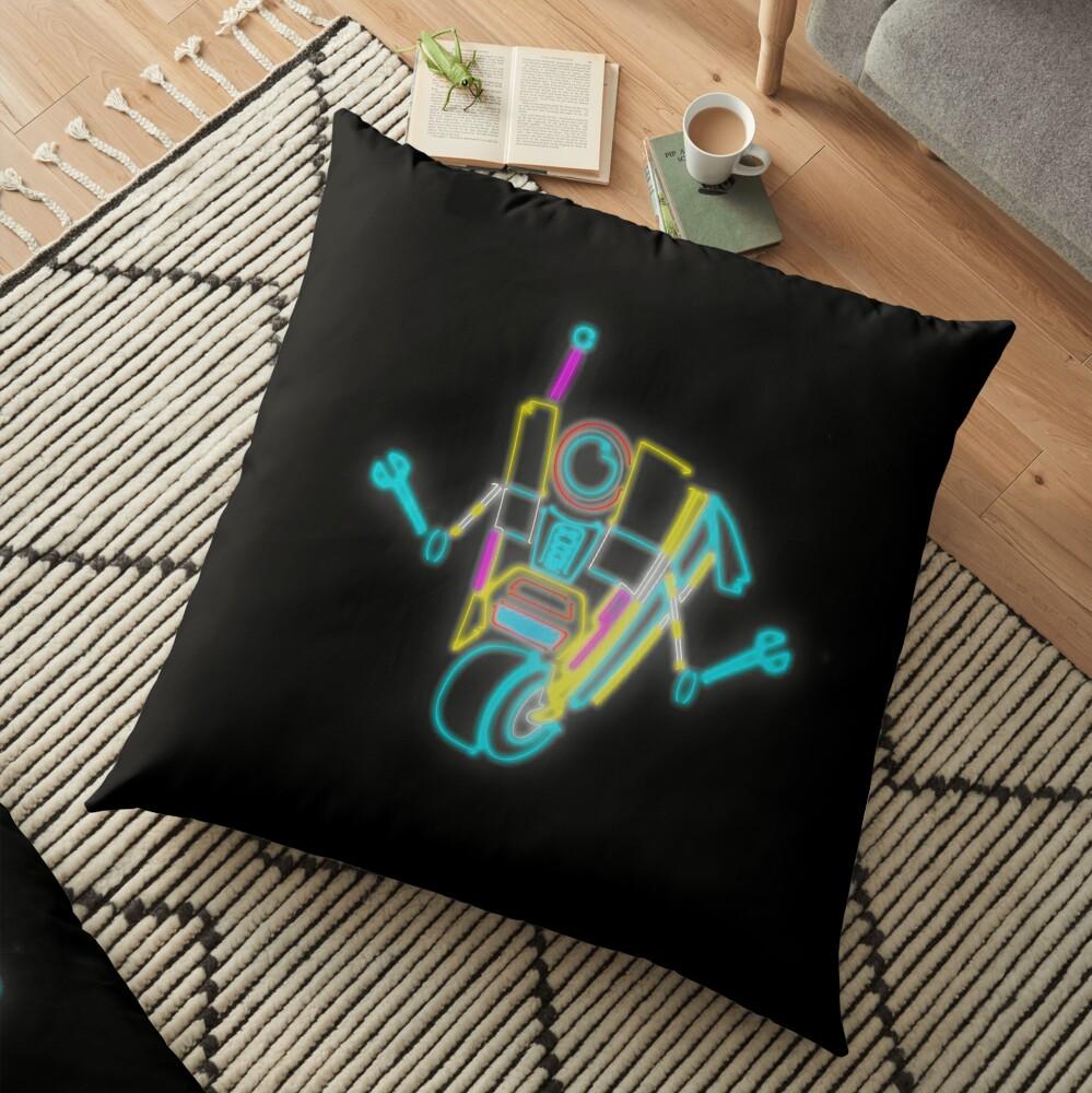 Neon Claptrap Floor Pillow