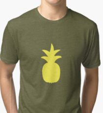 Simple Pineapple design Tri-blend T-Shirt