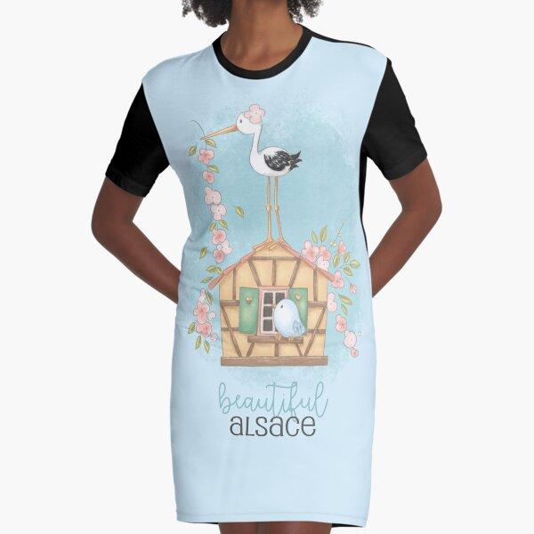 Beautiful Alsace Graphic T-Shirt Dress