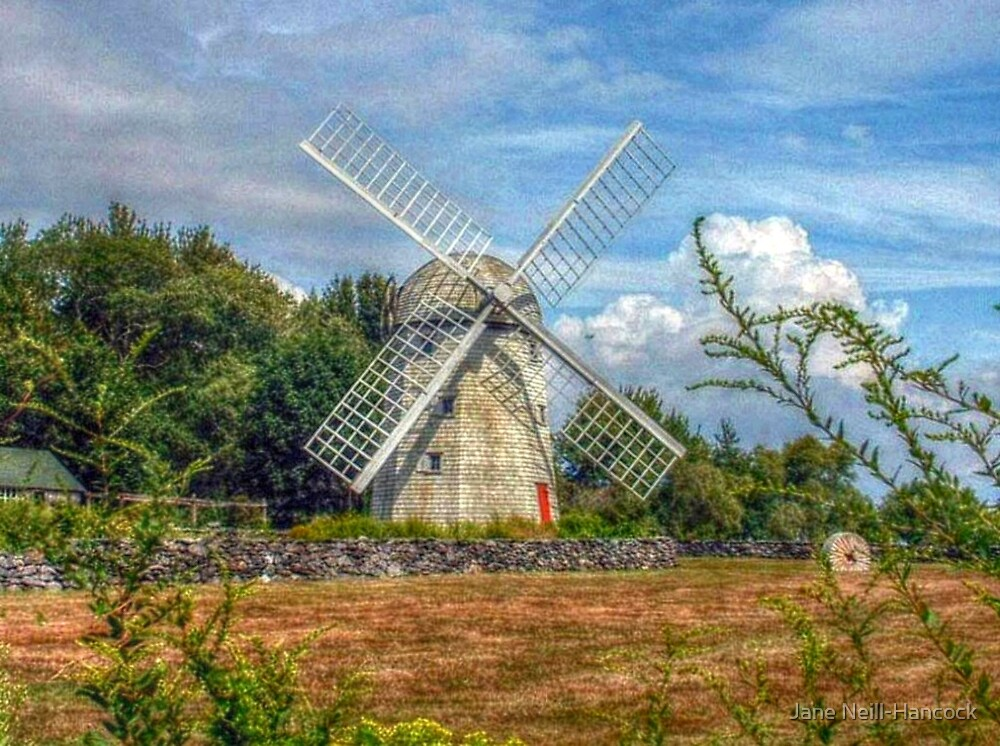 Jamestown Windmill, Rhode Island by Jane Neill-Hancock