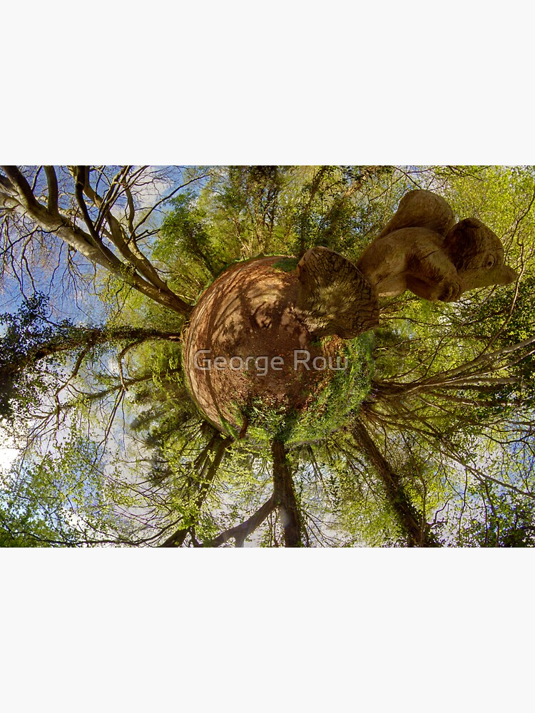 Squirrel Sculpture on path through Prehen Woods,  Derry by VeryIreland