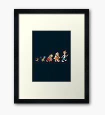 Hanna Barbera Evolution Framed Print
