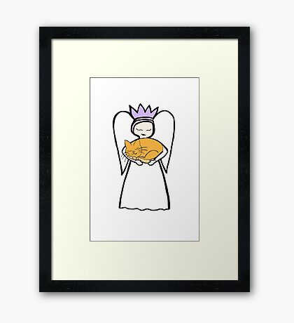 Angel Cat the second Framed Print