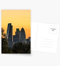 London City Sunset Postcards