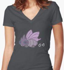 All-Terrain Venomoth Women's Fitted V-Neck T-Shirt