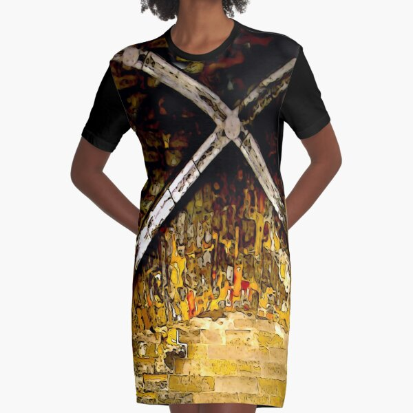The Years Flew By Graphic T-Shirt Dress